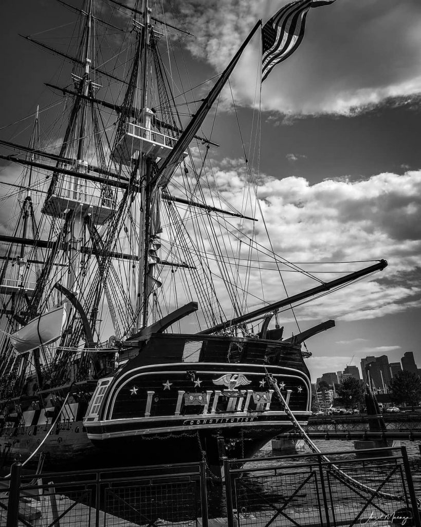 Image of the USS Constitution in the Navy Ship Yard, Boston