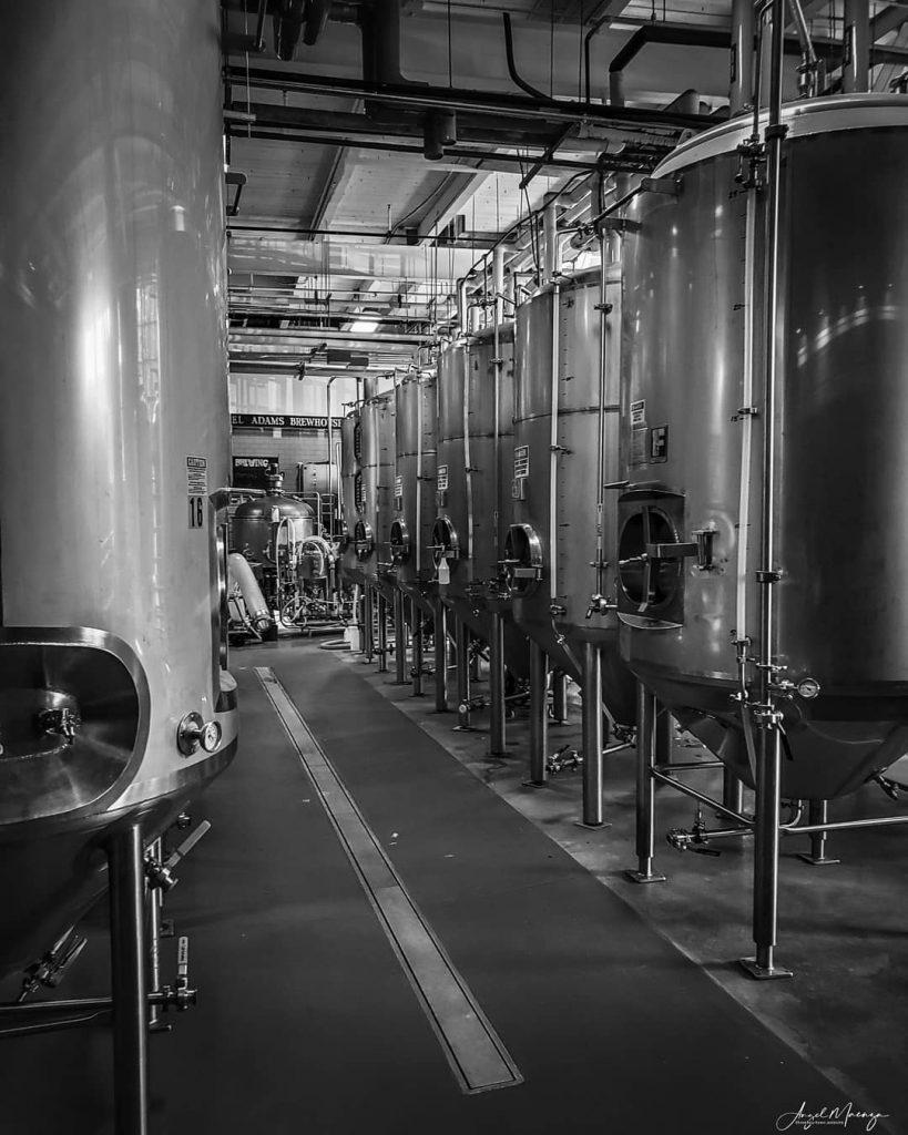 Image of equipment at the Samuel Adams Brewery, Boston