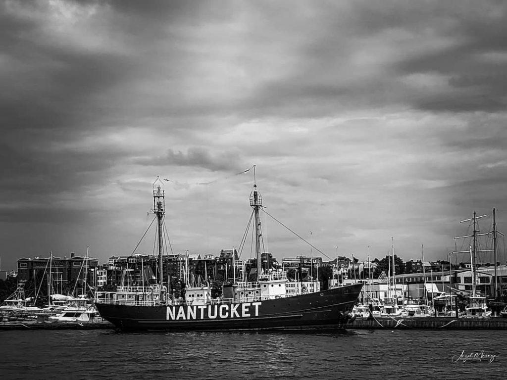 Photo of Nantucket Light Ship in Boston Harbor
